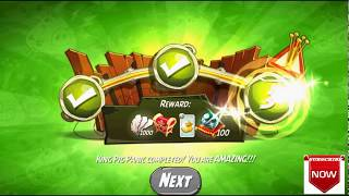 Beat The Daily Challenge King Pig Panic Completed in Angry Birds 2 Thursday(2)