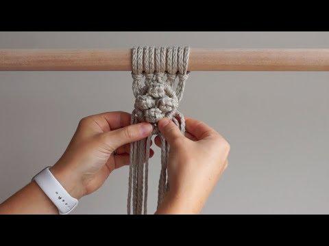 DIY Macrame Tutorial - Diamond Pattern With 4 Berry Knots