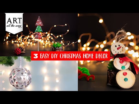 3 Easy DIY Christmas Home Decor | DIY Christmas Decoration | Christmas Ideas