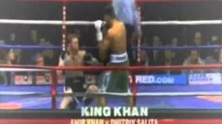 Amir Khan Takes Down Israeli Boxer Dmitriy Salita