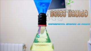 Experimento: Reloj líquido. Dinámica de fluídos - Liquid Hourglass How to