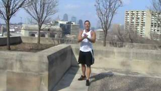 Micah Lacerte Kansas City Personal Trainer Performing Box Jumps