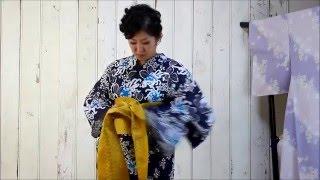 きもの京小町 女優 こばやしあきこ(きものん)ひとりで着付け 動画 【浴衣帯結び編 蝶々結び】 小林亜紀子 検索動画 30