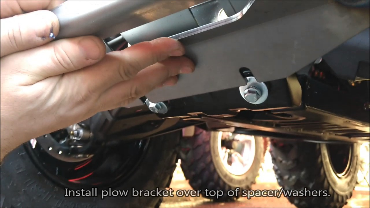 How to Install a Warn Front Plow Mount on the CAN-AM Outlander 450 Warn Provantage Plow Wiring Diagram on