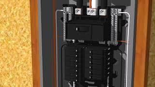 200 Amp 60 Curciut Breaker Box Model 2 Animation 3