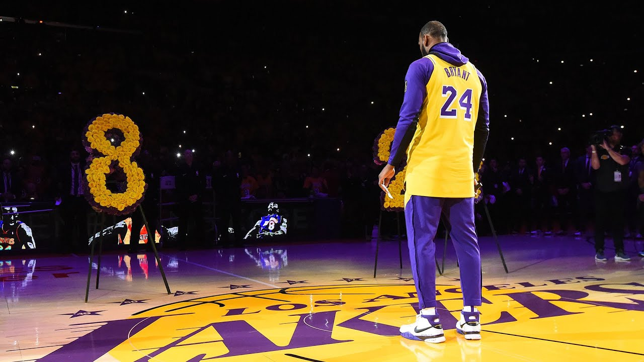 LeBron James Goes Off Script & From The Heart At Kobe Tribute