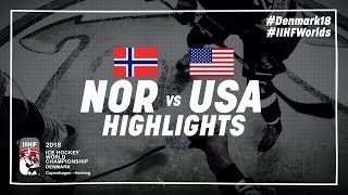 Game Highlights: Norway vs United States May 13 2018 | #IIHFWorlds 2018