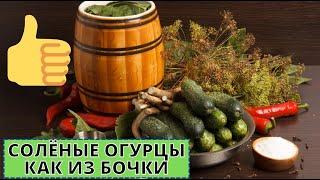 Рецепт соленых огурцов-как из бочки