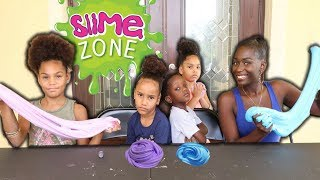 5 MINUTE SLIME CHALLENGE AGAINST THE PIERRE SISTERS!!