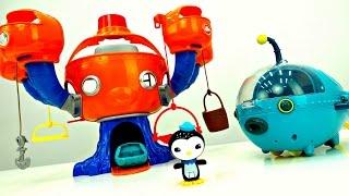 Мультик с игрушками. Распаковка подводной лодки и базы Октонавтов