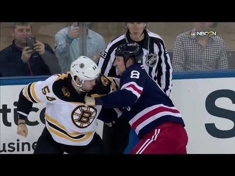 Adam McQuaid fights Cody McLeod twice 2/7/18