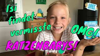 LOST KITTIES ! Isi findet VERMISSTE KATZEN / ÜBERRASCHUNG in Play Doh Knete 🐱Kleine Familienwelt