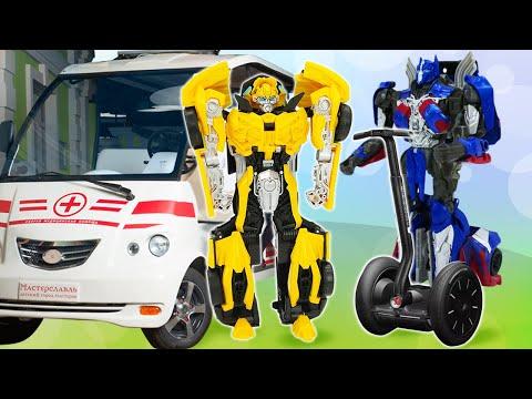 Роботы Трансформеры в видео сборнике – Автобот Бамблби и миссия спасателя! - Игры гонки онлайн.