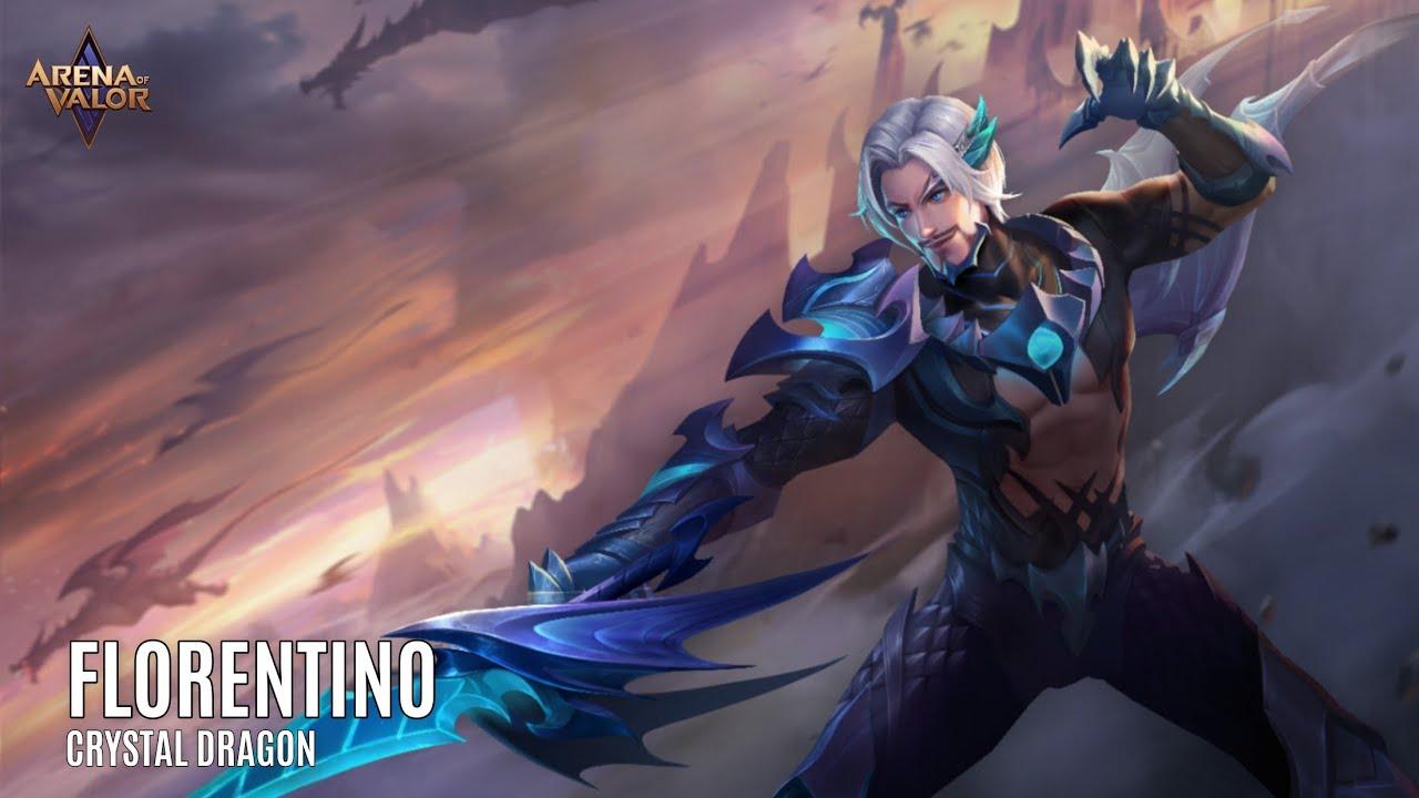 Skin Spotlight | Florentino: Crystal Dragon | Arena of Valor - TiMi