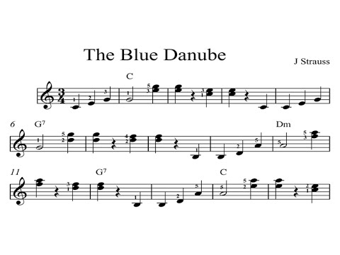 The Blue Danube: KINDLE SHEET MUSIC Piano Organ & Keyboard: Book 4