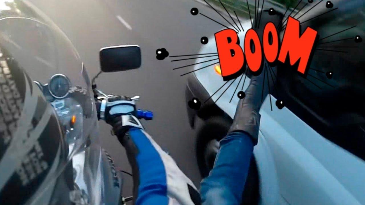 Image result for biker smashes car mirror