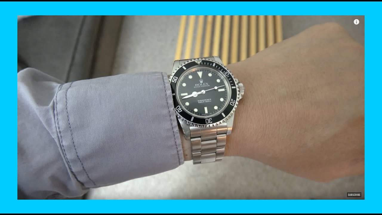 on the wrist rolex submariner 5513 l series in 4k youtube