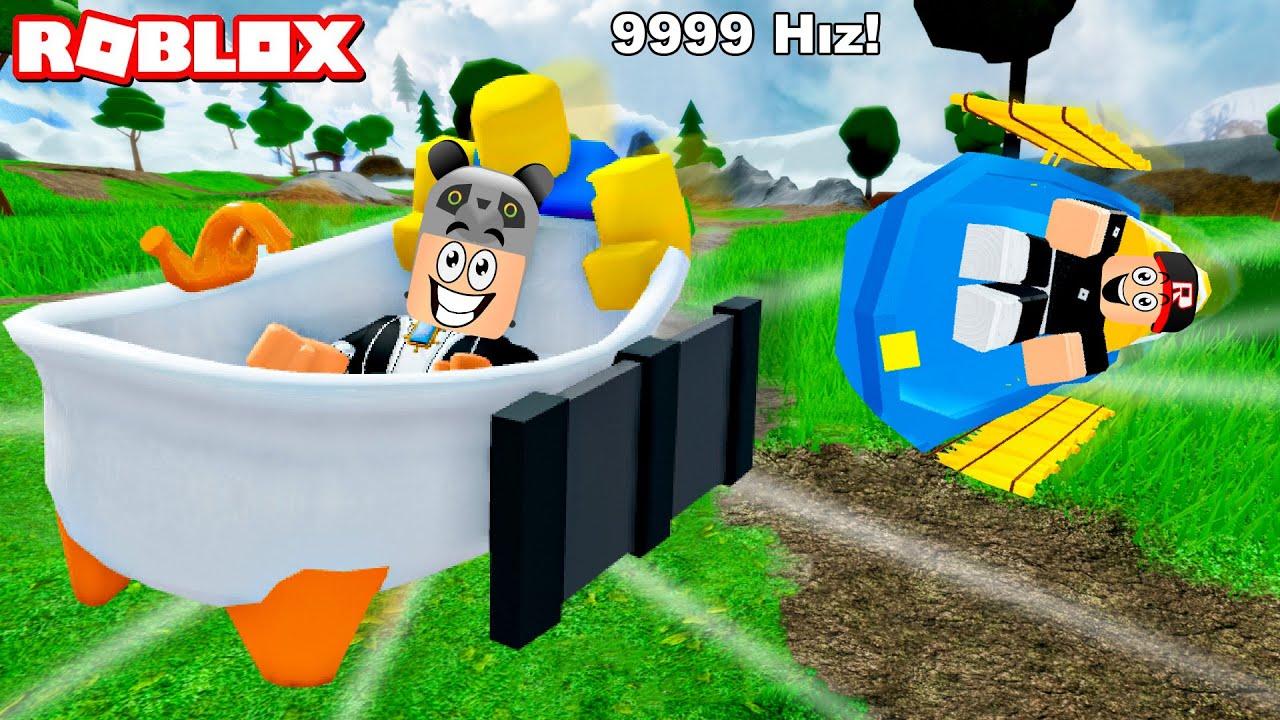 En Hızlı Kızağı Aldım!! - Panda ile Roblox Sled Simulator