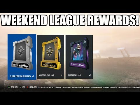WEEKEND LEAGUE REWARDS! MONTHLY REWARDS COMING! | MADDEN 18 ULTIMATE TEAM