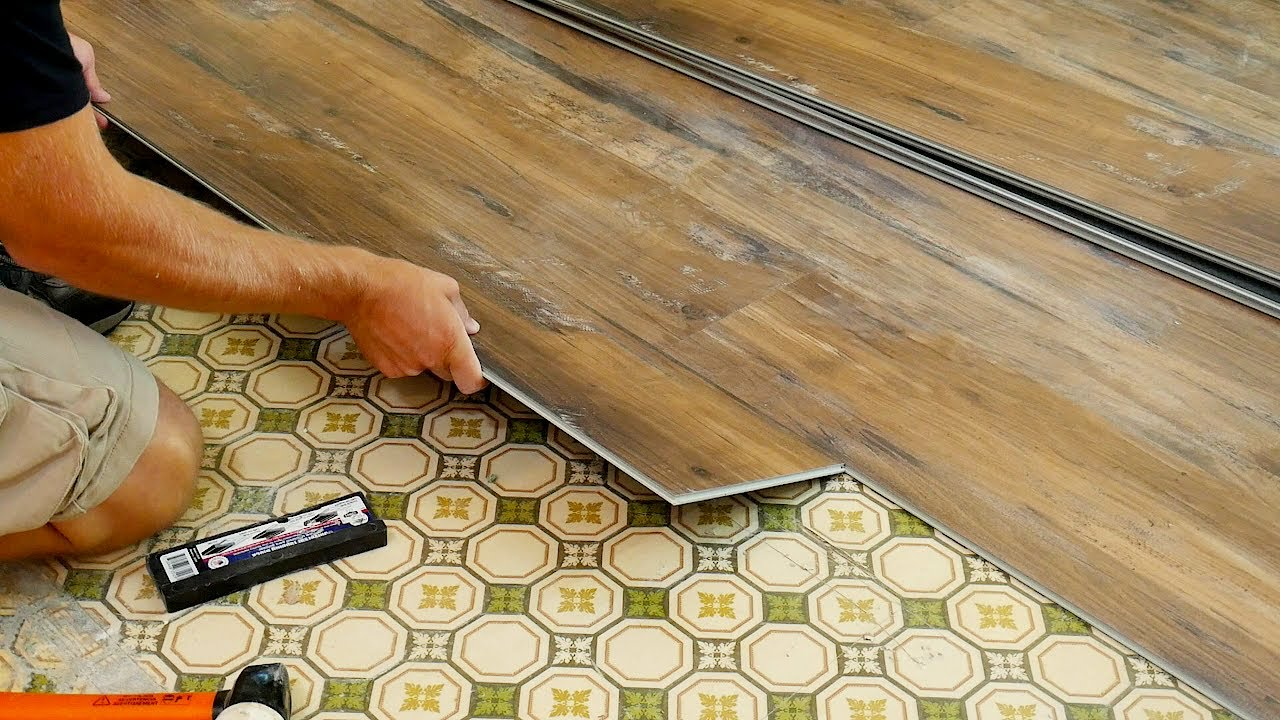 how to install wood look tile youtube