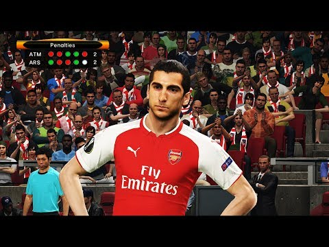 H. Mkhitaryan Player Of Arsenal | Penalty Shootout | ATLETICO MADRID Vs ARSENAL | UCL | PES 2018