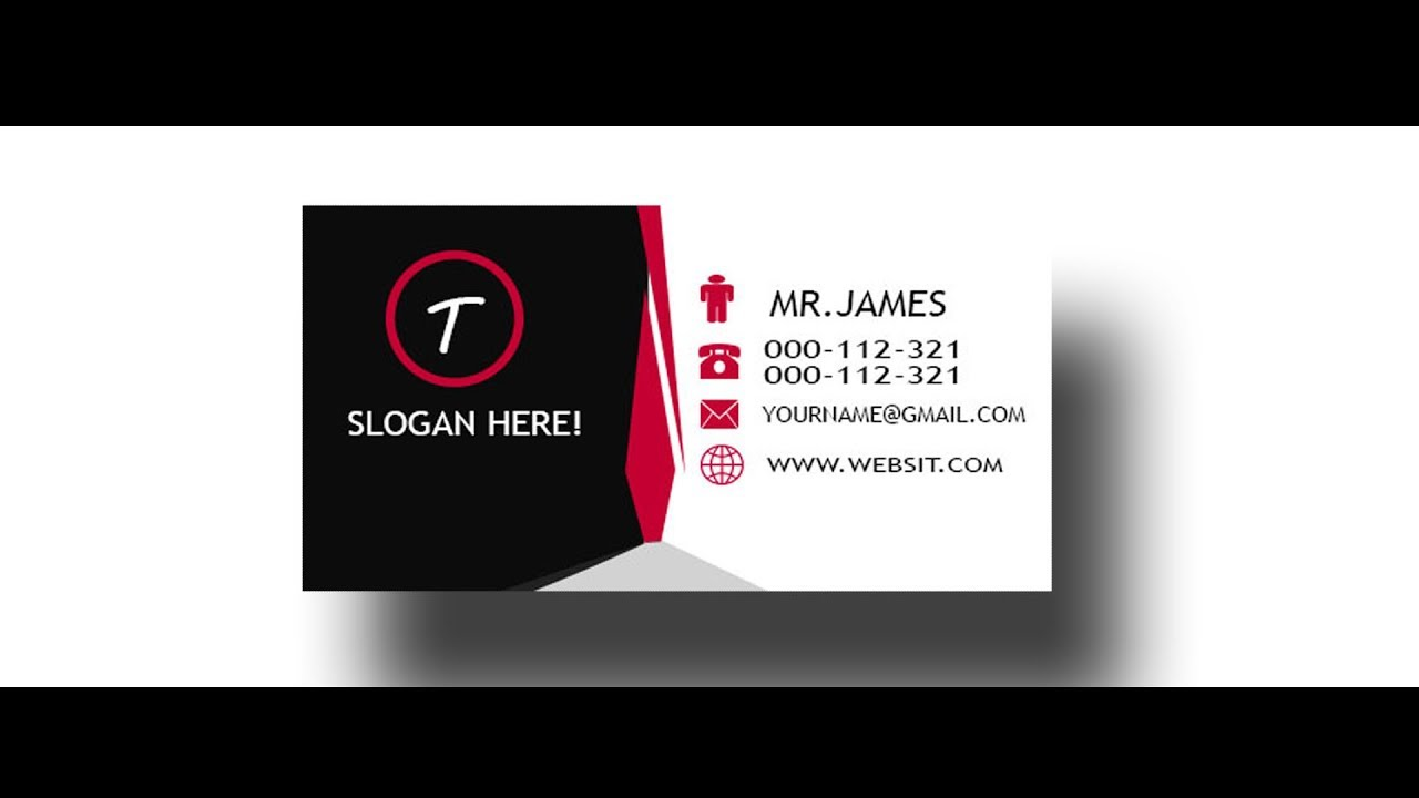 EP#45|| VISITING CARD  DESIGN  IN PHOTOSHOP CS6 ||