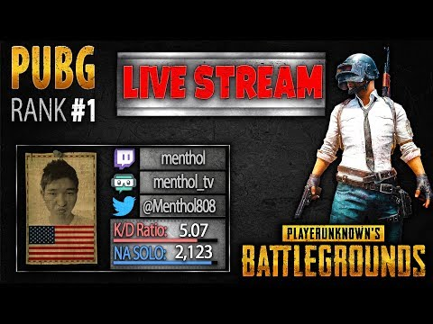 PUBG Rank 1 Live Stream: Menthol - PLAYERUNKNOWN'S BATTLEGROUNDS