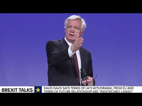 David Davis & Michel Barnier EU 3rd round Brexit Talks Press Conference w/Q&A - 31st August 2017