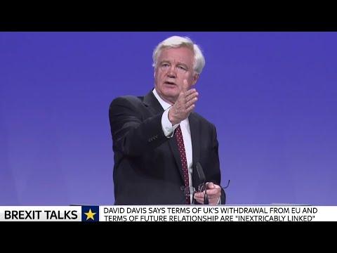 David Davis & Michel Barnier EU 3rd round Brexit Talks Press Conference w/Q&A - 31st August 2017