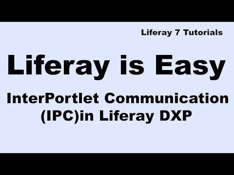 Liferay Tutorial 20 :- Interportlet Communication(IPC) in Liferay DXP
