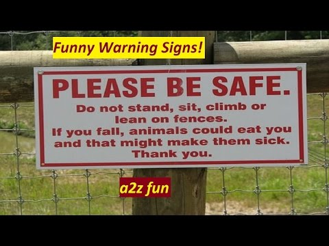 15 Funny Warning Signs around the world ll Strange Signs And Unnecessary Warning Labels !