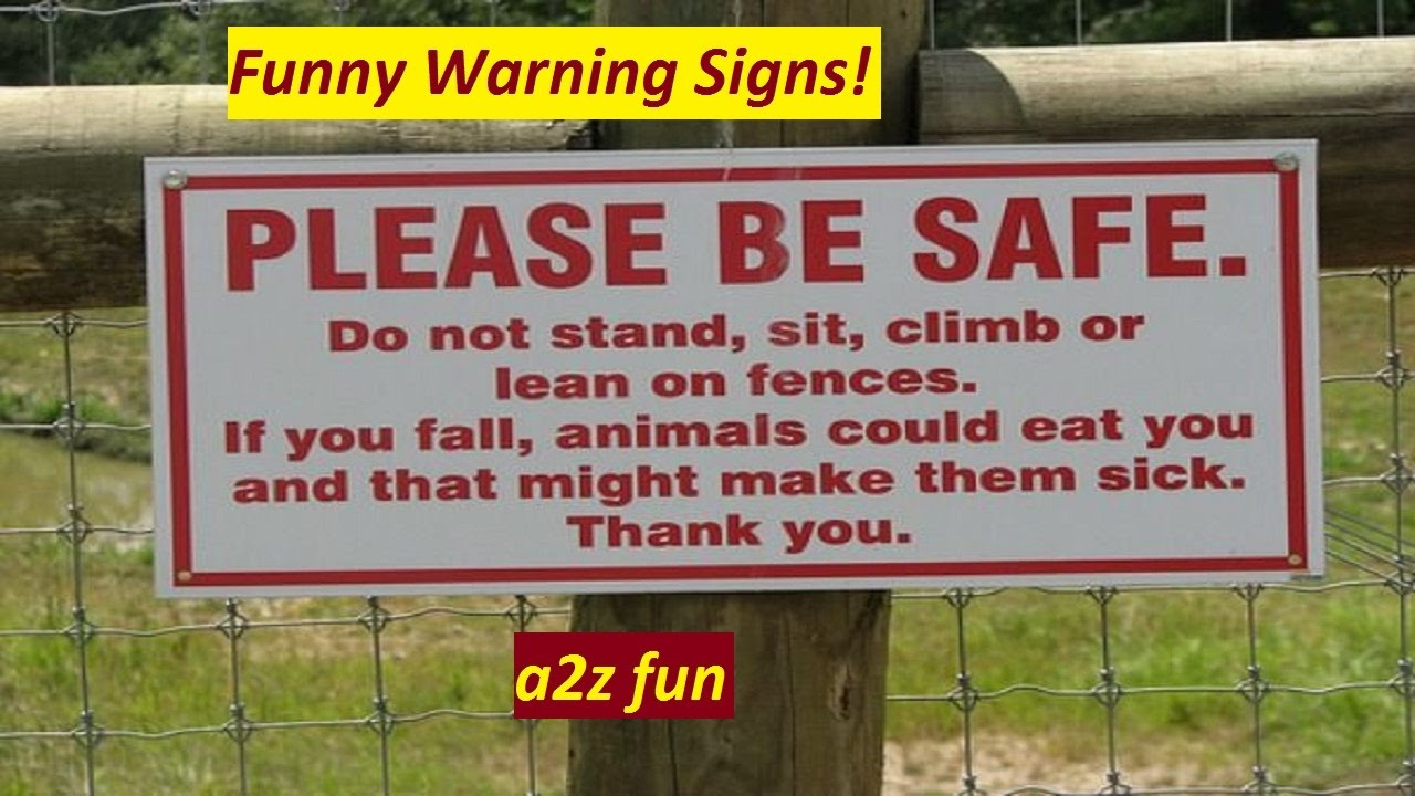 15 funny warning signs around the world ll strange signs and