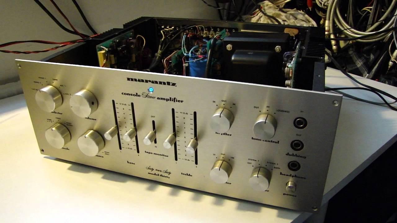 MARANTZ MODEL 30 AMPLIFER U.S.A. 60 X 2 WATTS TEST