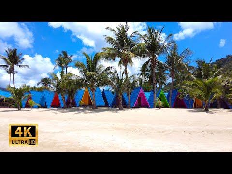 Walking tour in Lamai beach Koh Samui 2021 - Virtual walking tour | Streets of Thailand 2021
