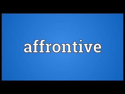 Header of affrontive