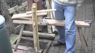 Shave Horse - Measurements And Design