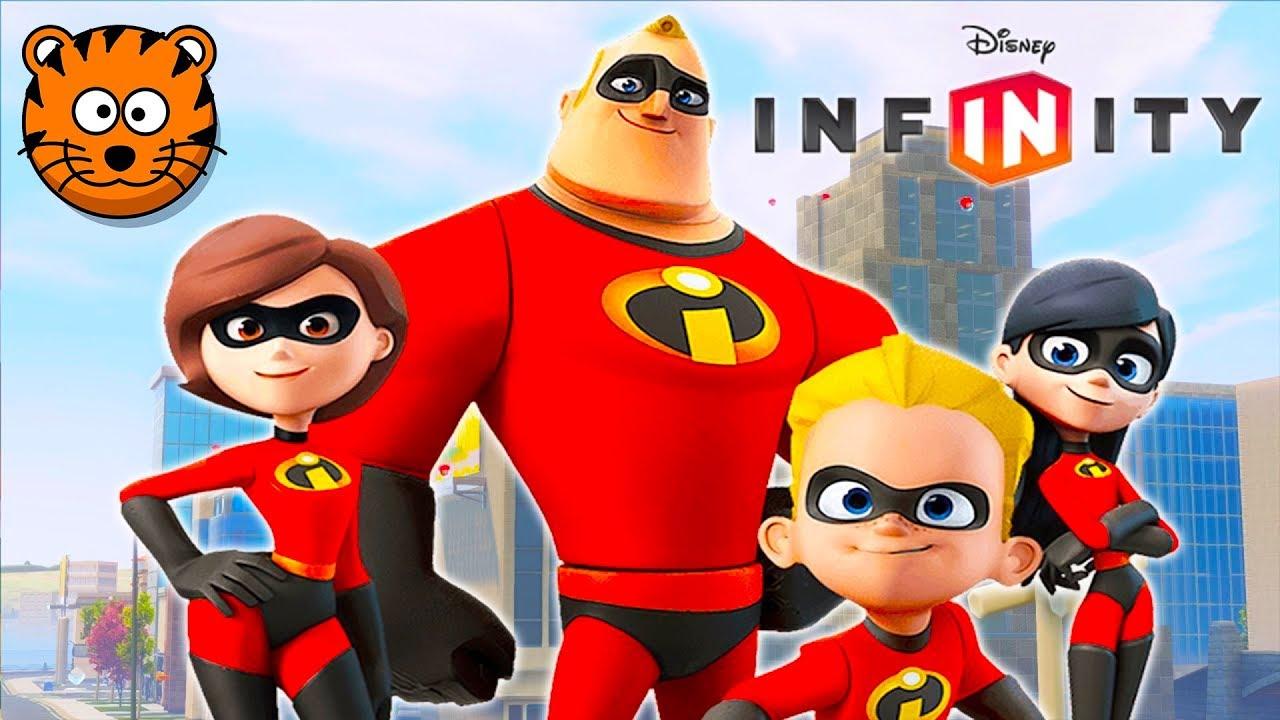 Les Indestructibles Super Heros Jeux Video De Dessin Anime En Francais Disney Infinity Youtube