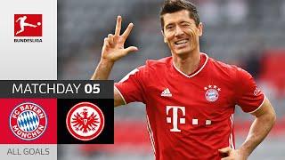 Lewy Hat Trick Sané Dream Goal! | FC Bayern München - Eintracht Frankfurt | 5-0 | All Goals | MD 5
