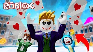 WE BECOME SUPER VILLANOS!! THE JOKER SUPERHEROES ROBLOX 💙💚💛 BE BE BE MILO VITA AND ADRI 😍