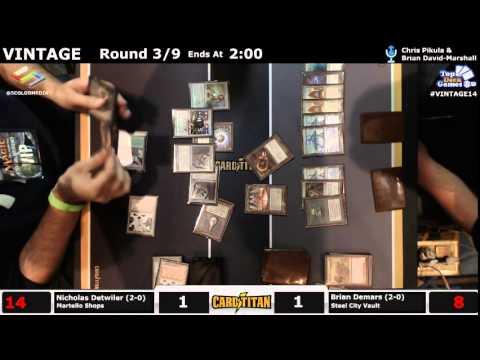 Vintage Champs Round 3 Nicholas Detwiler (Martello Shops) vs Brian Demars (Steel City Vault) Part 2