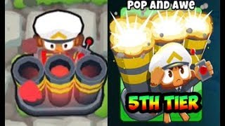 Bloons TD 6 - 5TH TIER MORTAR - POP AND AWE