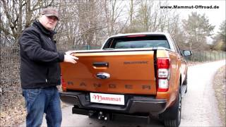 Ford Ranger 2016 - Mountain Top Laderaumrollo - Produktvideo - deutsch - german
