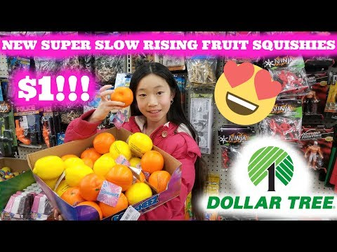 NEW 1 SUPER SLOW RISING SQUISHIES AT DOLLAR TREE PLUS SLIME