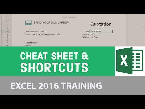 Cheat Sheet & Shortcuts - Excel 2016  [24/24]