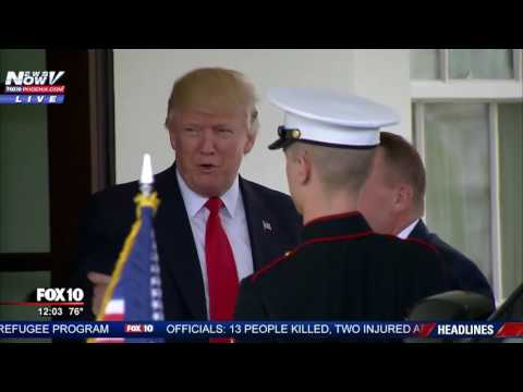 WATCH: President Trump Greets Danish Prime Minister Lars Lokke Rasmussen at the White House (FNN)