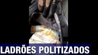 Ladrões fazem assalto milionário e mandam recado para Bolsonaro, Lula e Temer durante arromb..