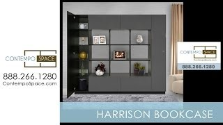 Harrison Bookcase - Modern Cube Bookshelves Surrounded By Storage | Item #: 2240