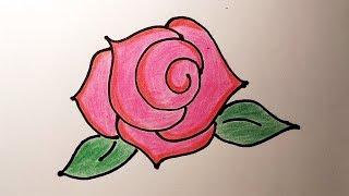 Как рисовать РОЗУ, простой и понятный способ / Рисунки для детей и начинающих