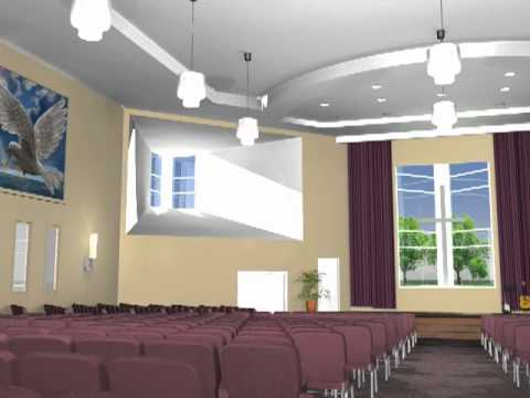 pentecostal church interior design fly through vw