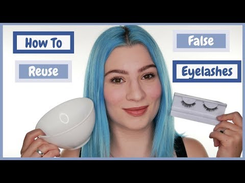 How To Clean False Eyelashes For Reuse Youtube